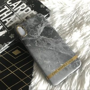"""Accessories - ✨New! """"Chic in Gray"""" iPhone X Marble Case"""